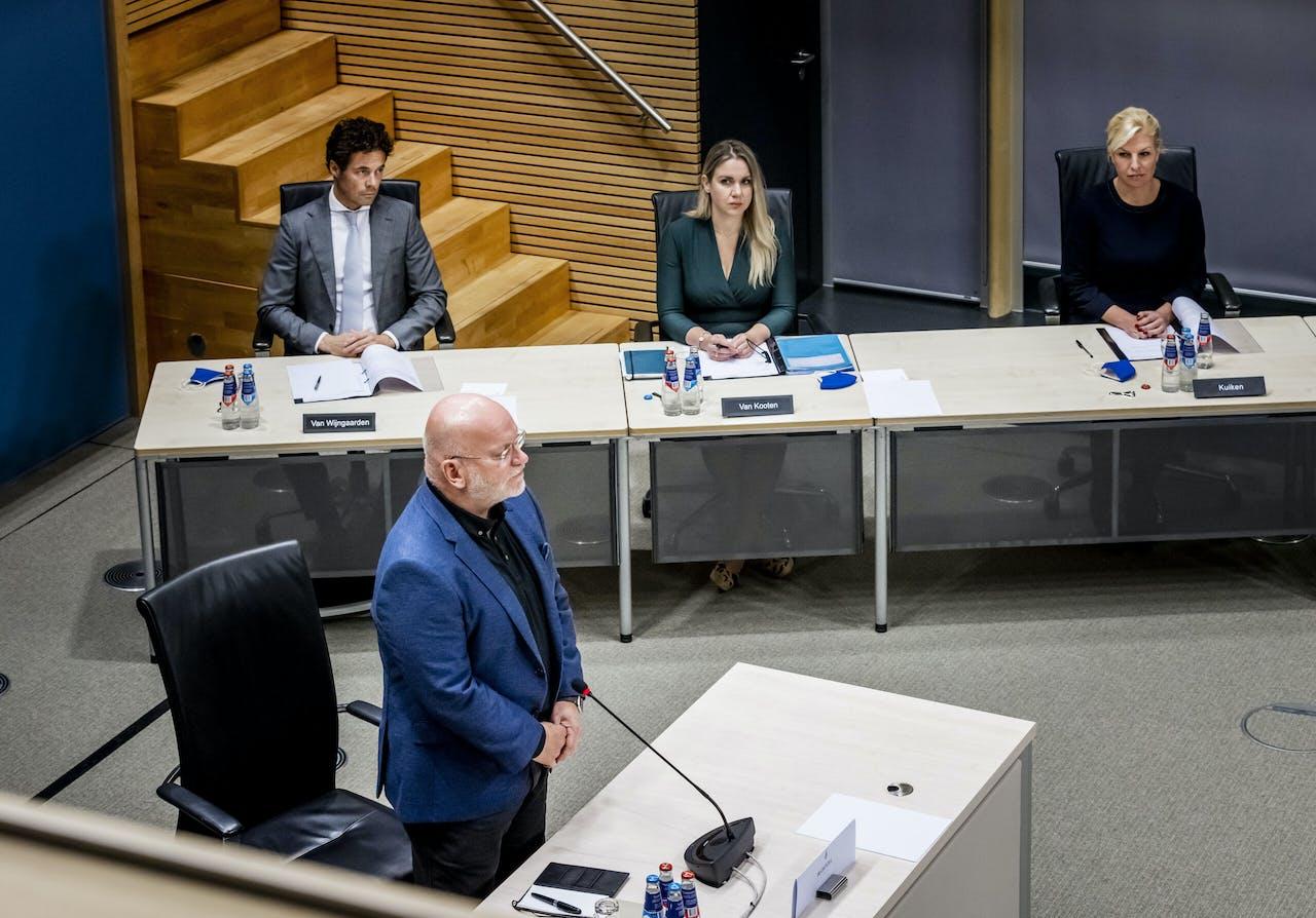 Hans Blokpoel, algemeen directeur Belastingen bij de Belastingdienst tussen 2010 en 2016, tijdens de hoorzitting over de toeslagenaffaire.