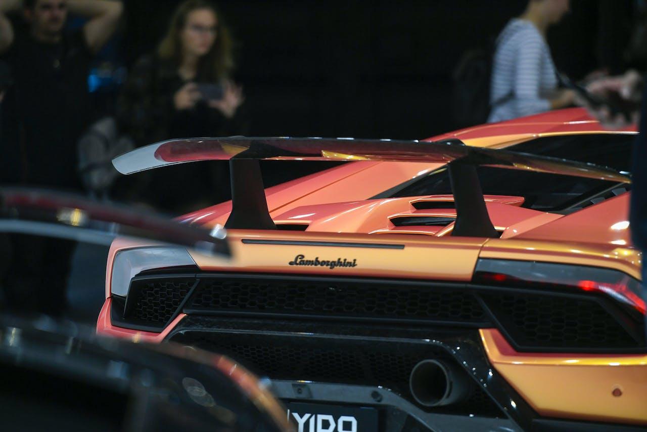 Een Lamborghini bij de Essen Motor Show