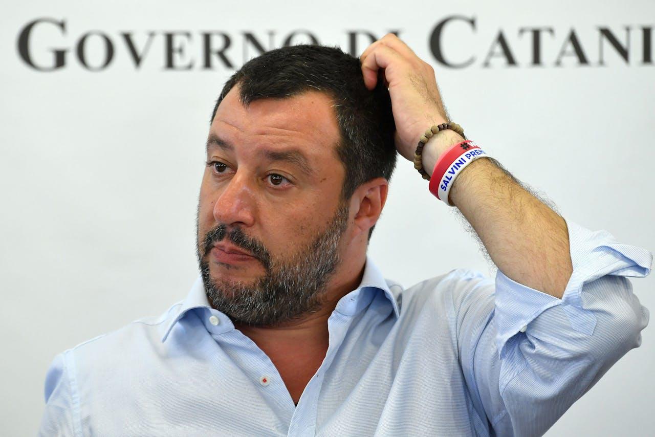 Matteo Salvini, leider van Lega (Nord) en minister van Binnenlandse Zaken.