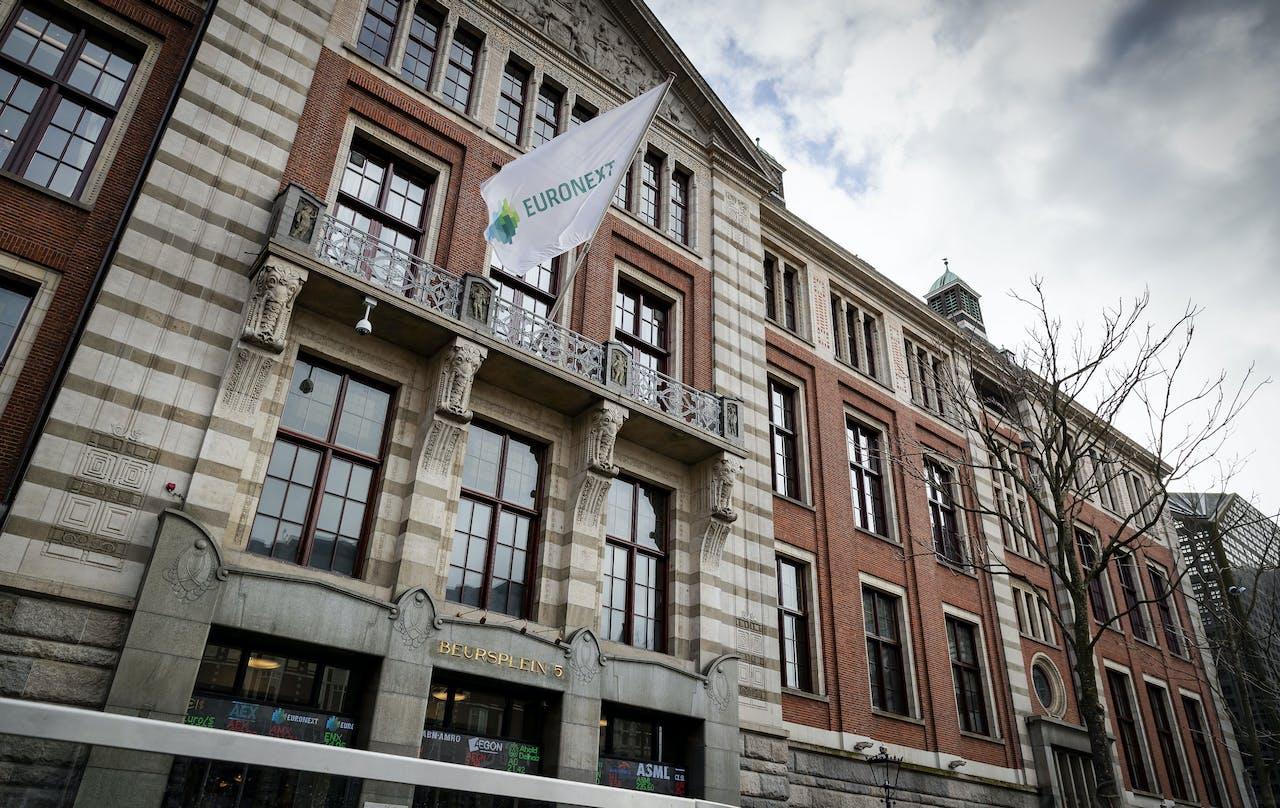 De Amsterdamse aandelenbeurs.