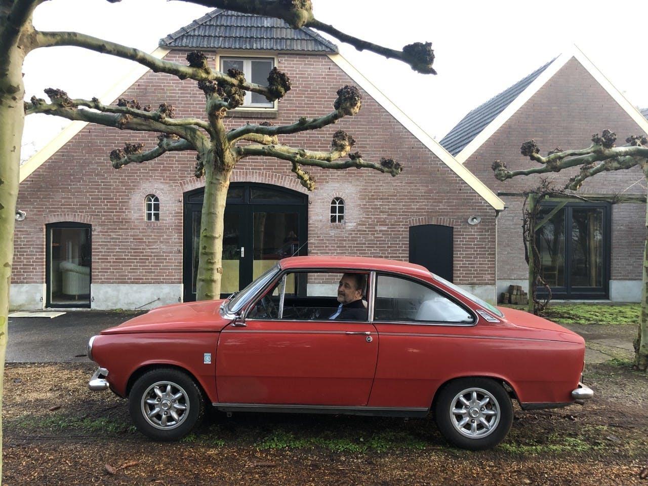 Bert de Boer van de Federatie Historische Automobiel- en Motorfietsclubs