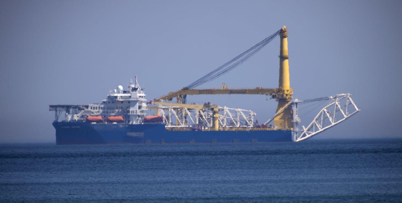 De aanleg van Nord Stream