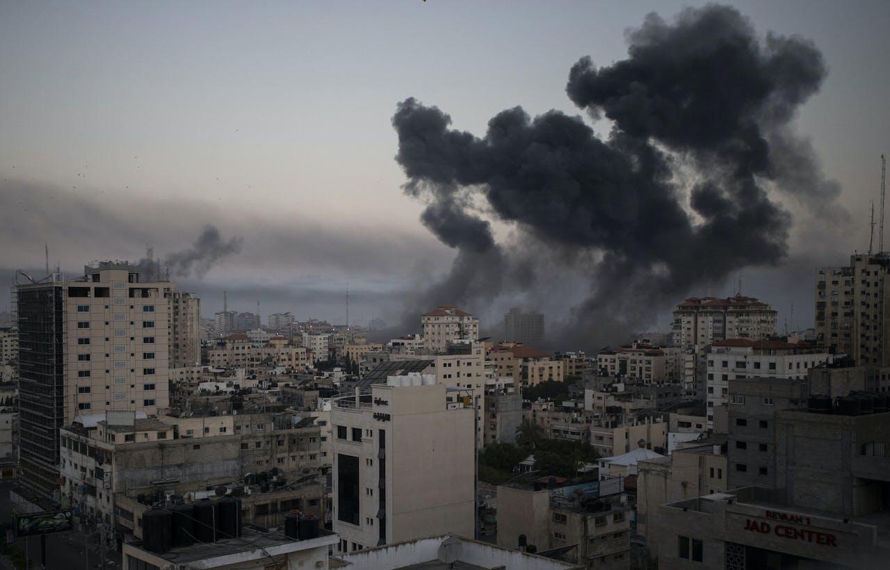 Israëlische luchtaanval op Gaza-stad