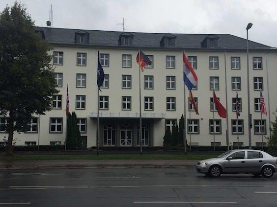 Het hoofdkwartier van het Duits-Nederlandse leger in Munster