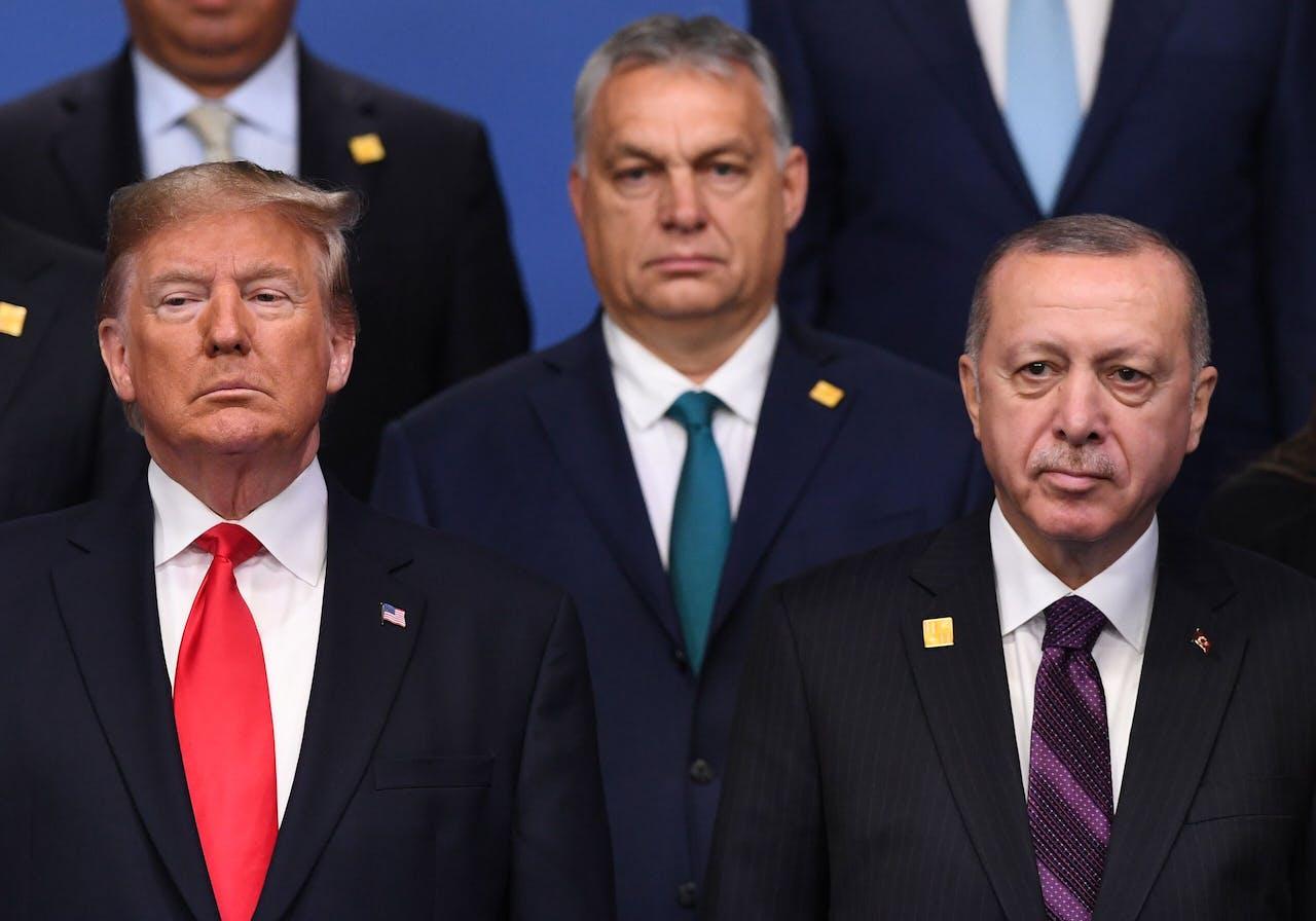 Donald Trump, Viktor Orbán en Recep Erdogan