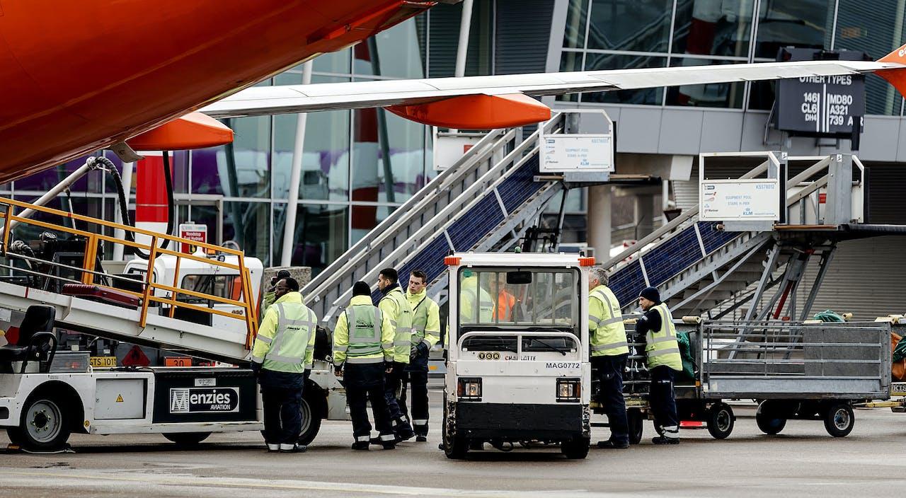 Het bagageplatform van Schiphol.