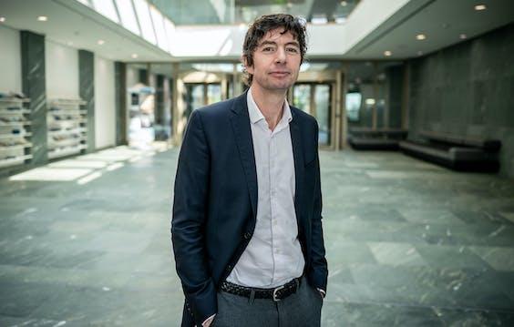 Viroloog Christian Drosten, directeur van het Duitse Instituut voor Virologie aan het Charite Hospital in Berlijn.