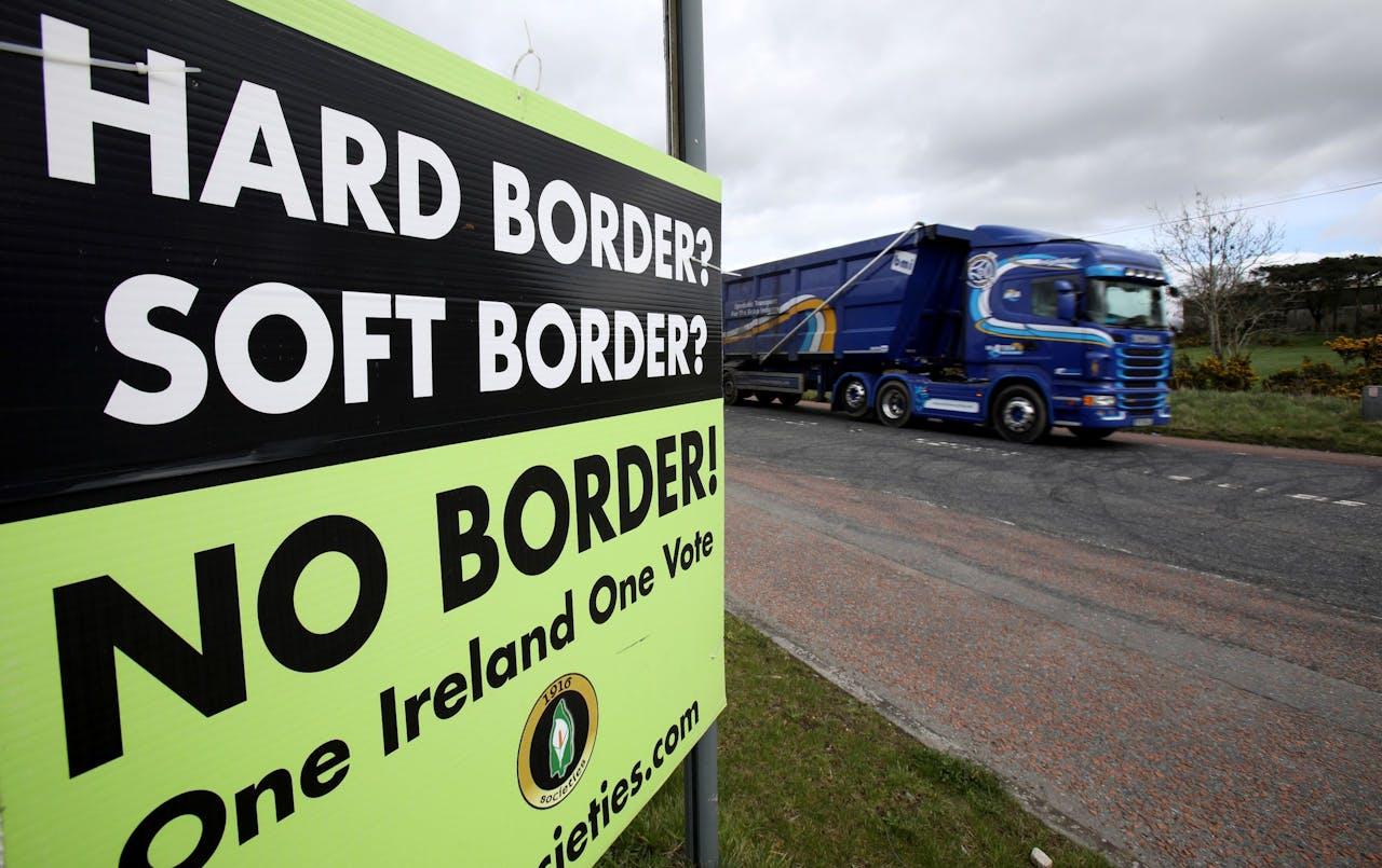 Zeker in het grensgebied willen de Ieren absoluut geen harde grens.