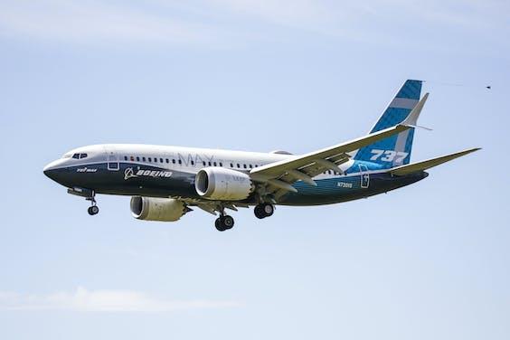 Een 737 MAX-toestel tijdens een testvlucht eerder dit jaar