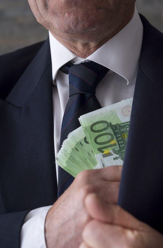 Een mooie bundel eurobiljetten