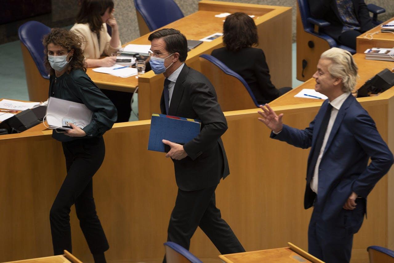 Hermans, Rutte en Wilders