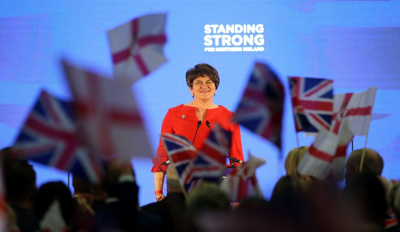 Arlene Foster van de Northern Ireland's Democratic Unionist Party (DUP).