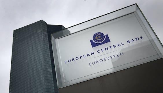 Hoofdkantoor van de Europese Centrale Bank in Frankfurt