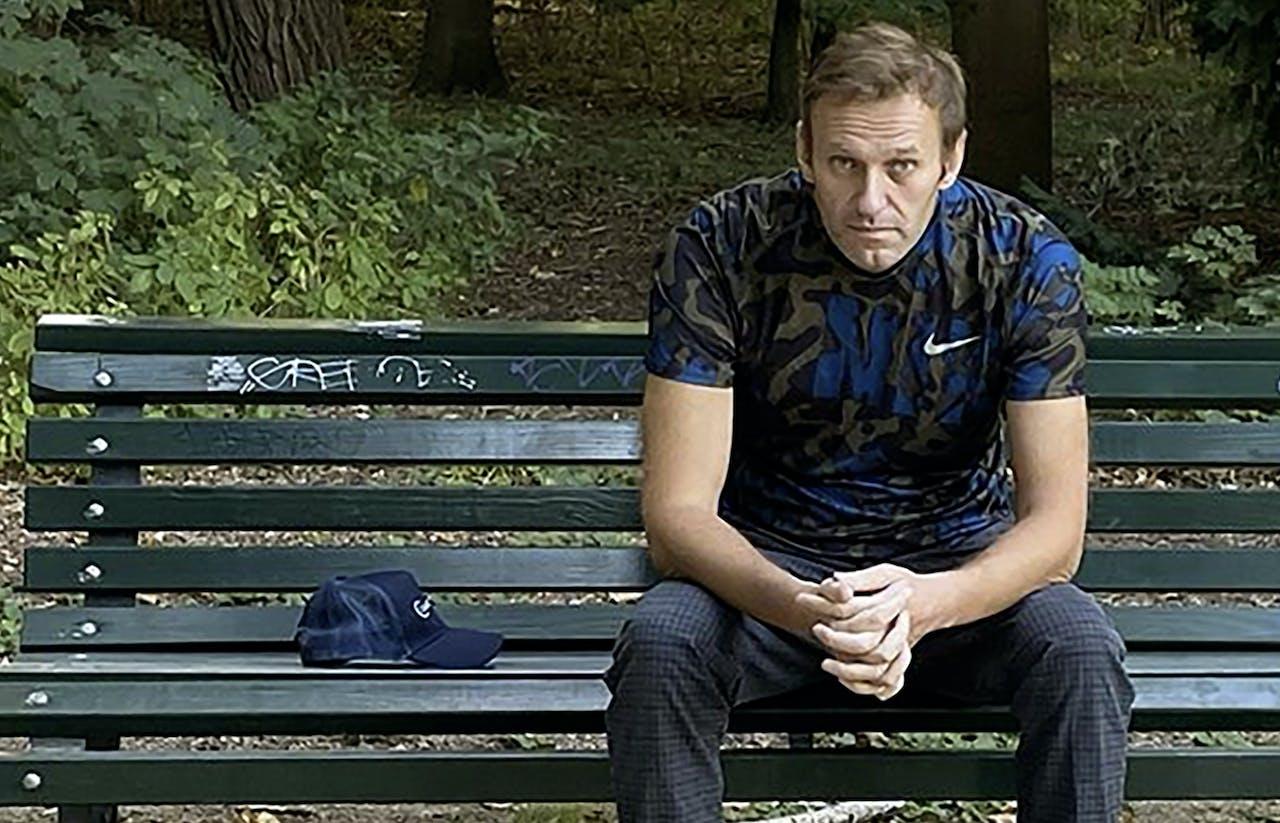 Alexei Navalny op 23 september 2020 in Berlijn