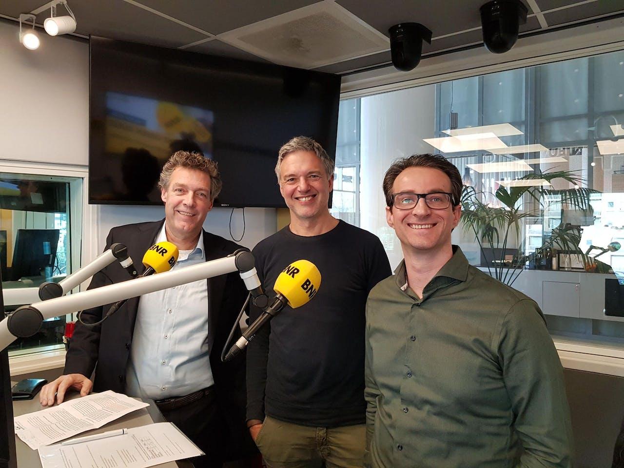V.l.n.r.: Barend van Kessel, Paul Laseur en Dirkjan Reijersen van Buuren.