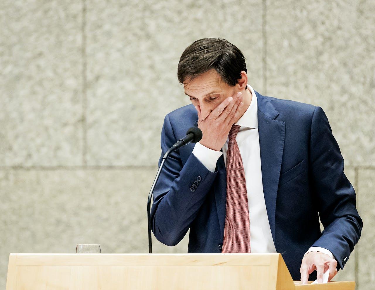 2018-05-23 16:02:41 DEN HAAG - Minister Wopke Hoekstra van Financien in de Tweede Kamer tijdens het verantwoordingsdebat over het jaar 2017. ANP ROBIN VAN LONKHUIJSEN