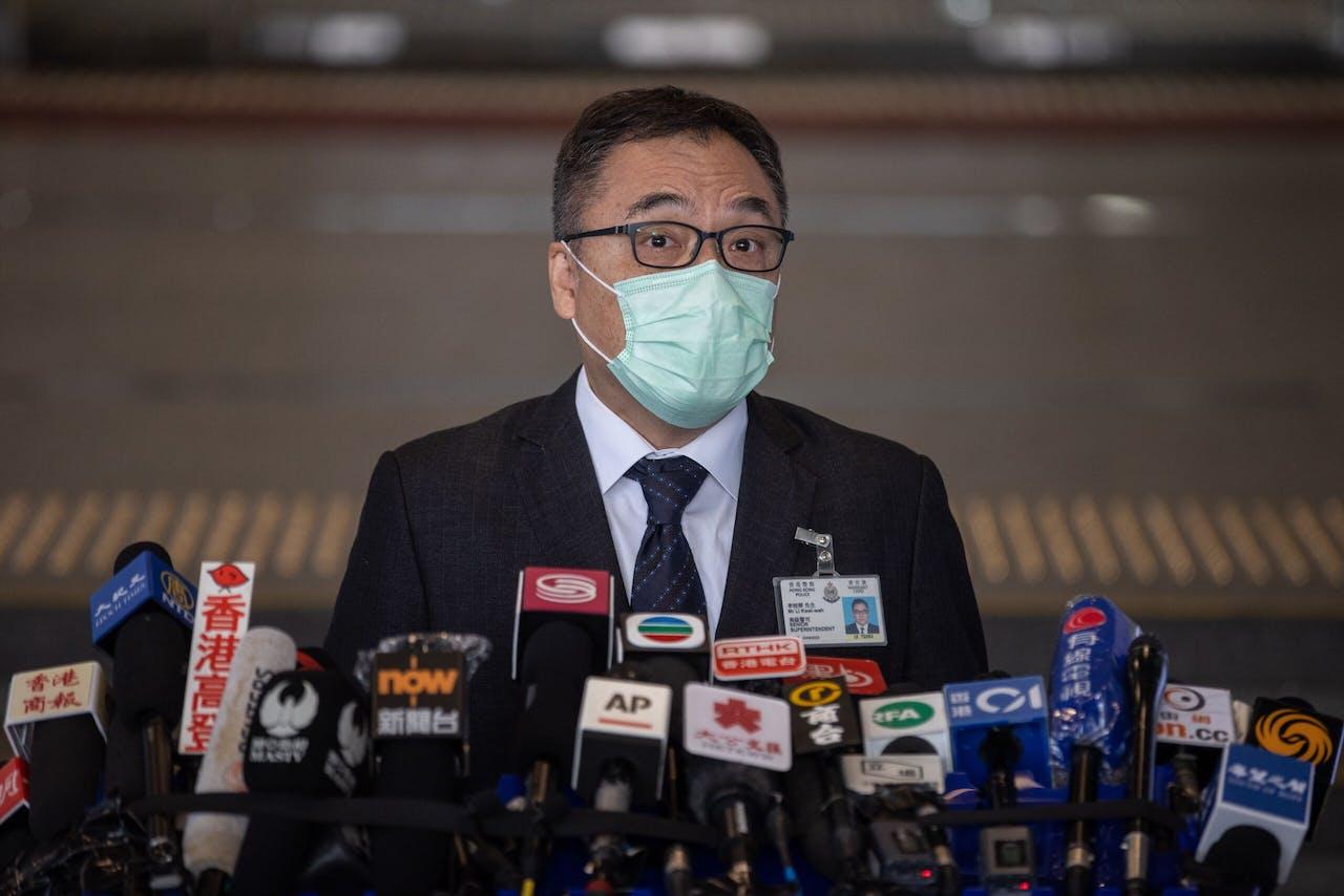 Politiebaas Li Kwai-wah in Hong Kong
