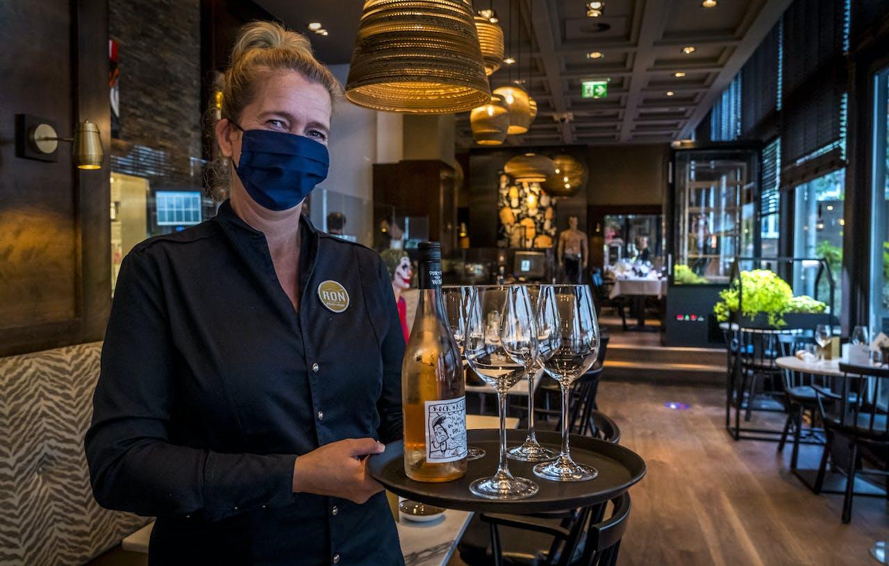 Bedienend personeel in Amsterdam.