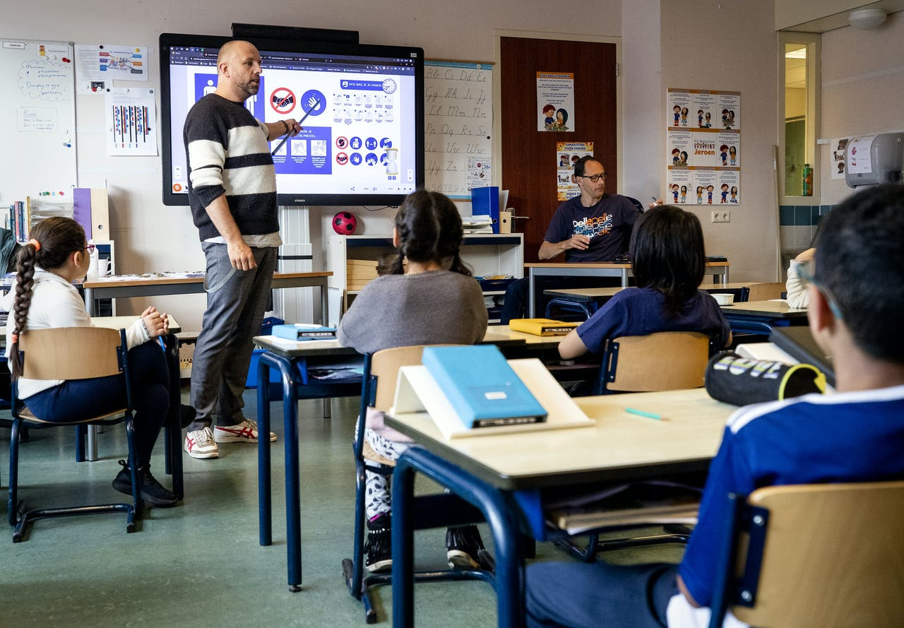 Een klas ter illustratie