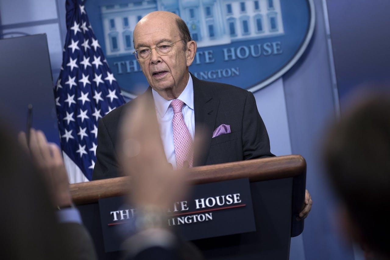 Amerikaans minister van handel Wilbur Ross.