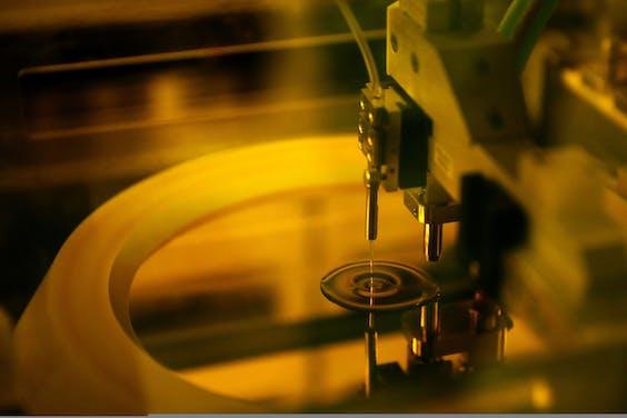 Miniatuurtje uit een chipfabriek
