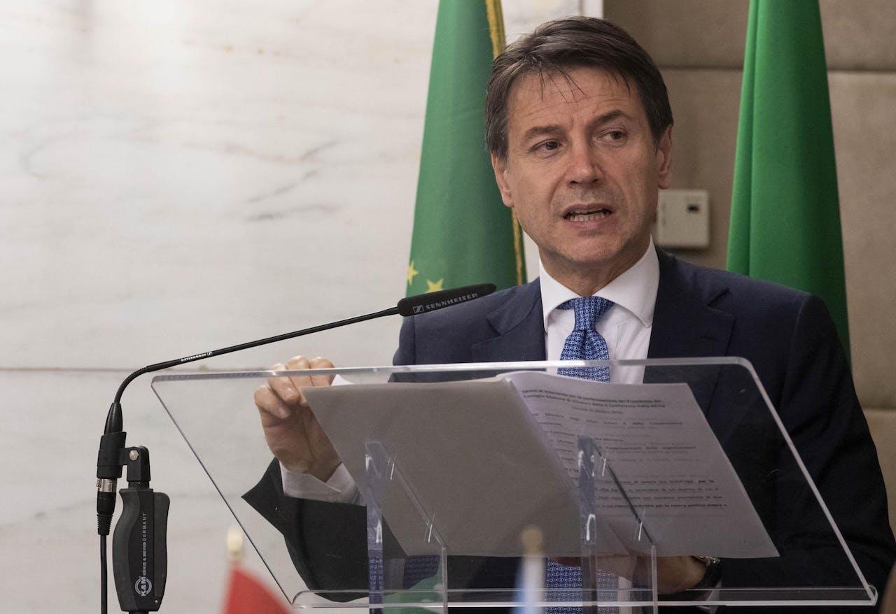 Italiaanse premier Giuseppe Conte.