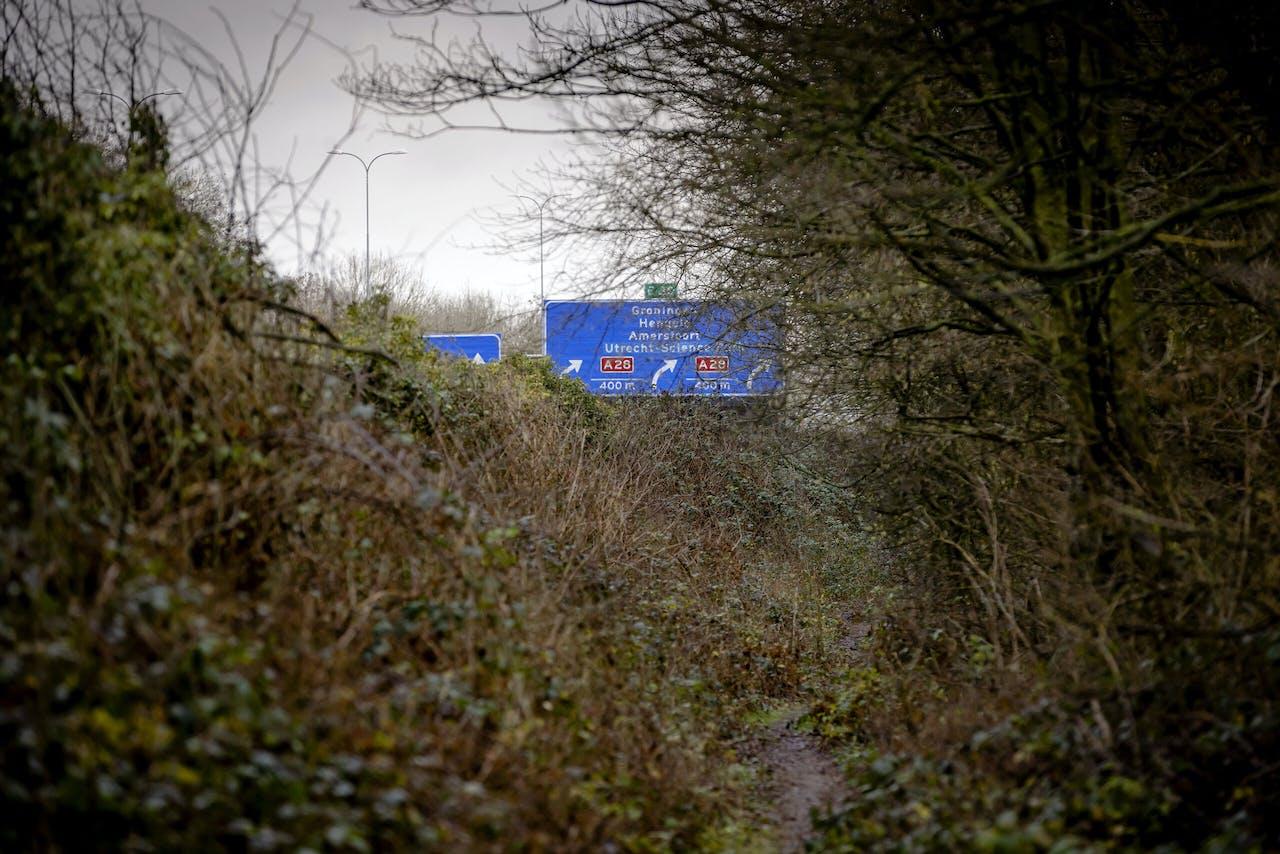 Bos van Amelisweerd bij Snelweg A27.