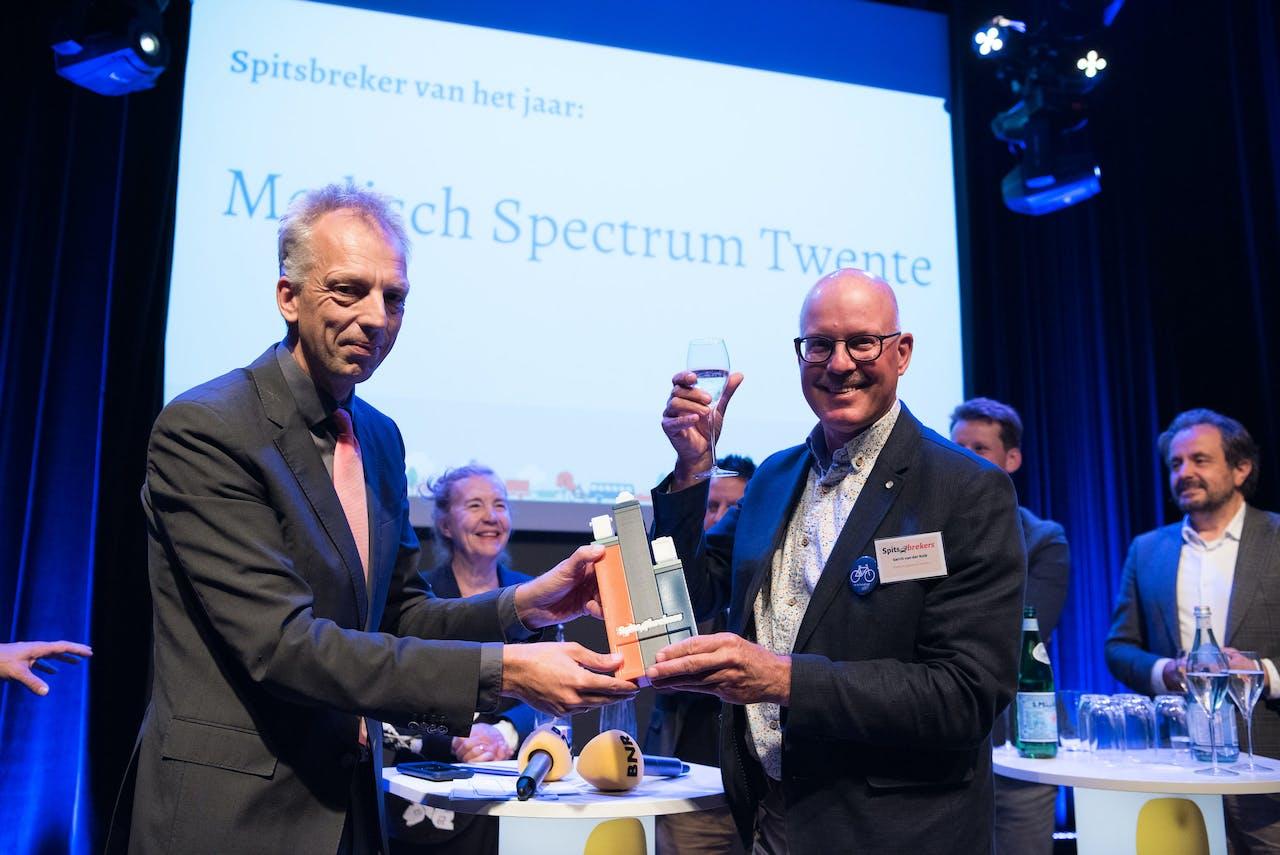 Sjors Fröhlich en Gerrit van der Kolk, Medisch Spectrum Twente, de winnaar van Spitsbrekers