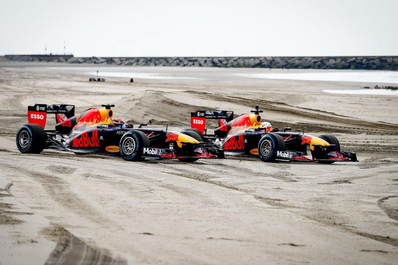 Racewagens van Red Bull Racing