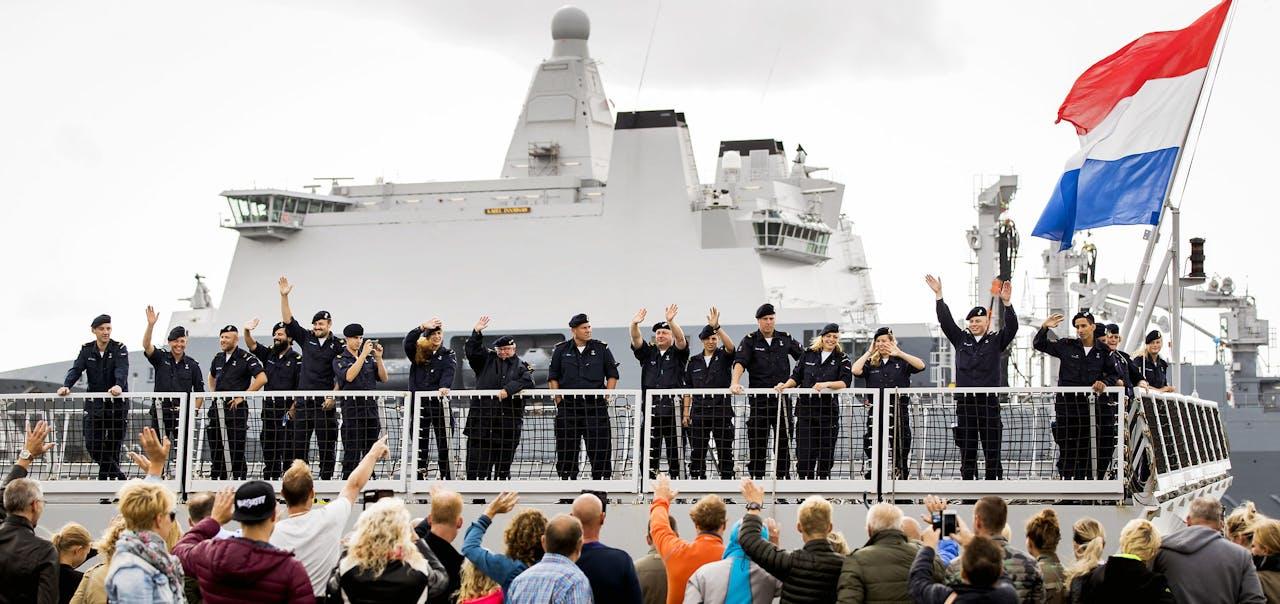 Het marinefregat Zr.Ms. De Ruyter
