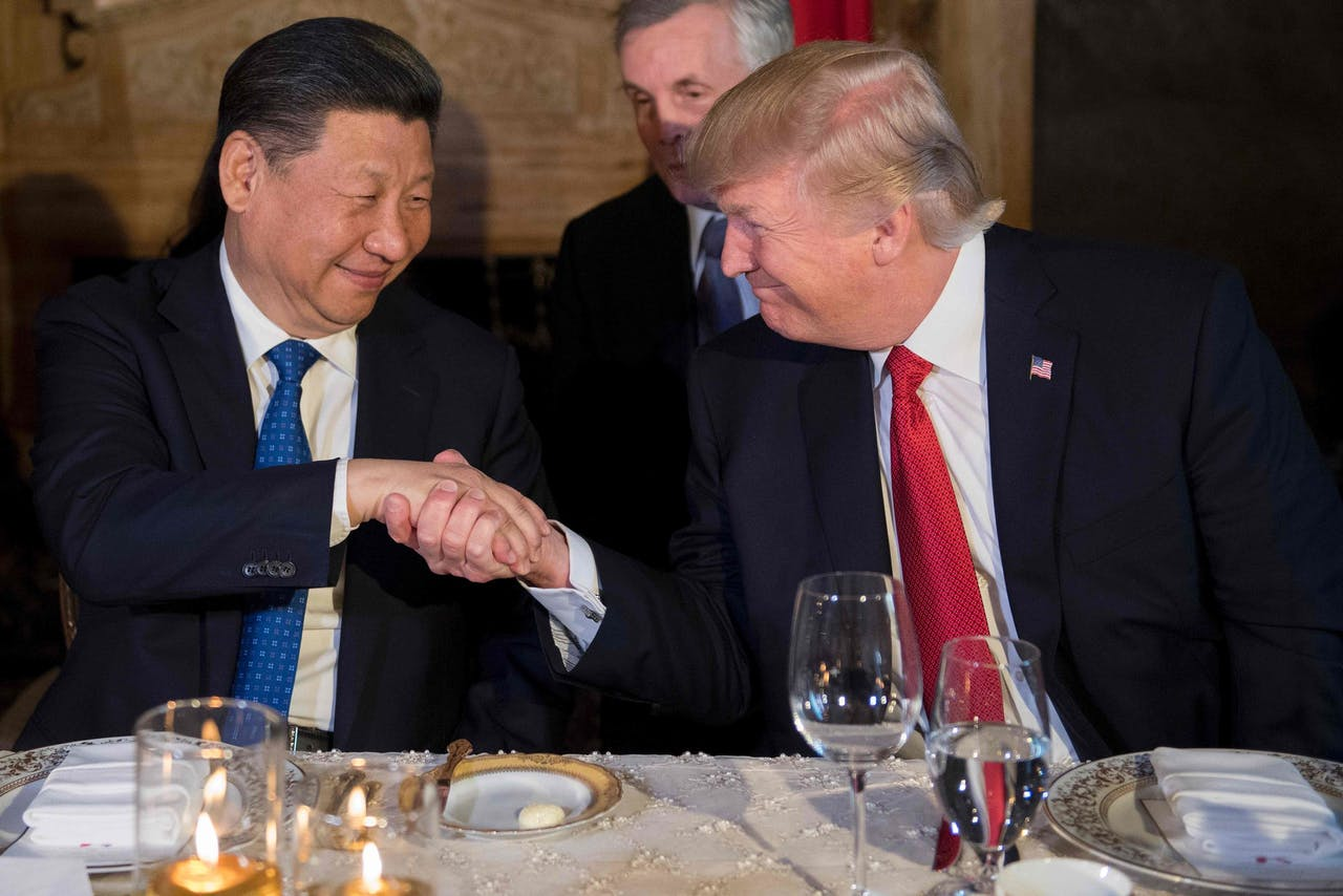 De Chinese President Xi Jinping en Donald Trump