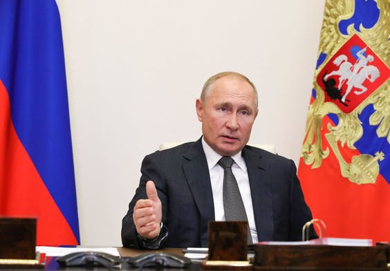 De Russische president Poetin