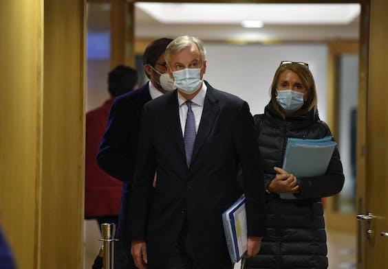 EU- Hoofdonderhandelaar Michel Barnier. JOHN THYS / POOL / AFP