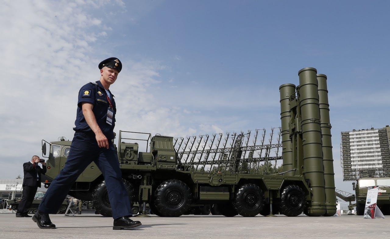 S-400 raketinstallaties gestationeerd vlakbij Moskou.