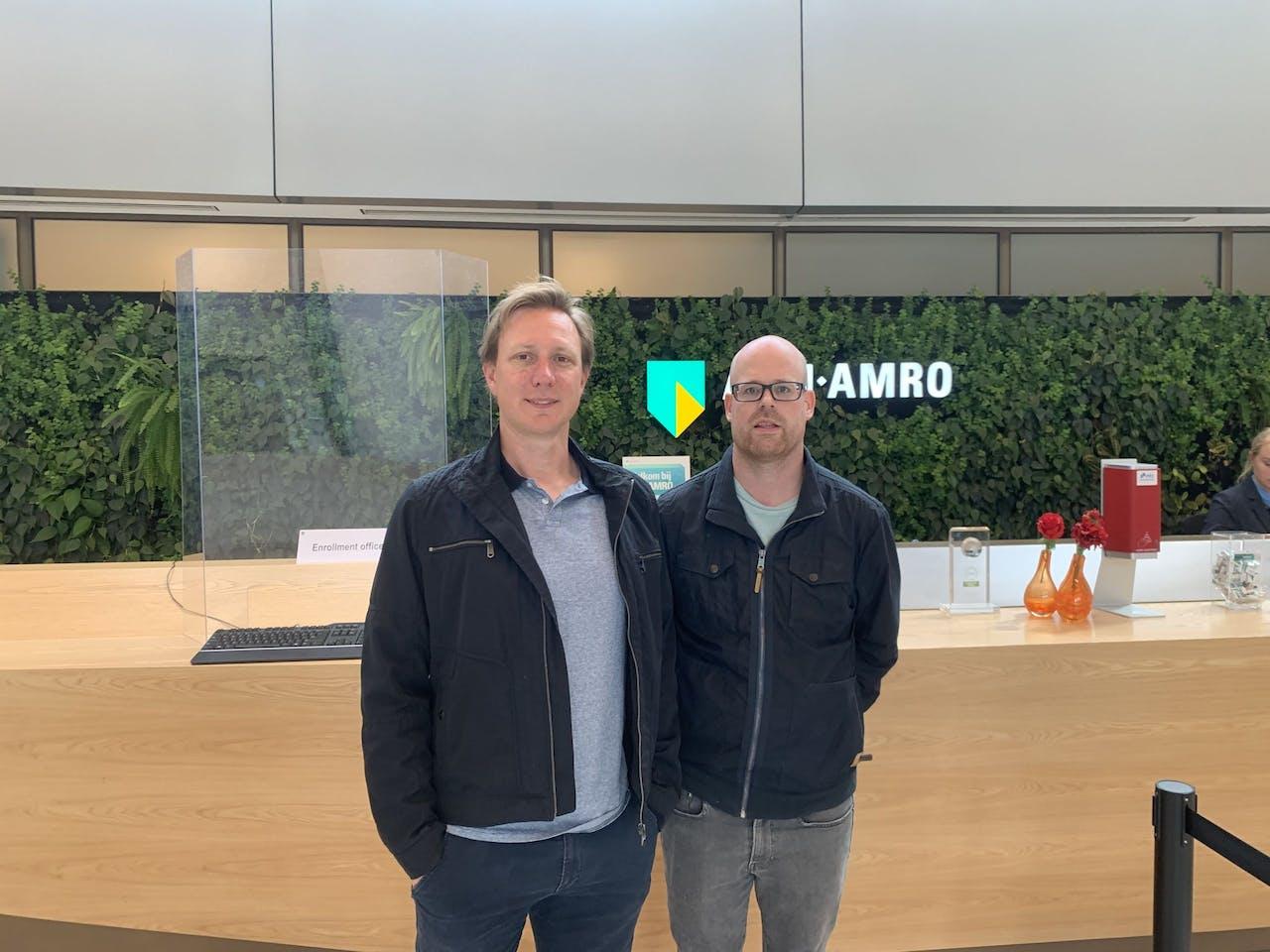 Jarco de Swart en Jos Doornenbal van ABN AMRO