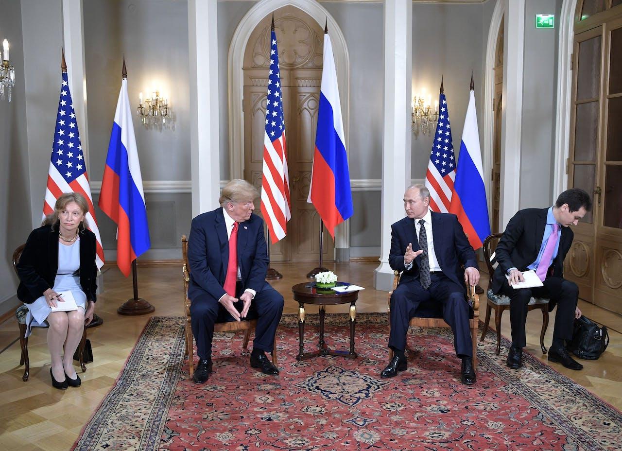 President Donald Trump en president Vladimir Poetin.