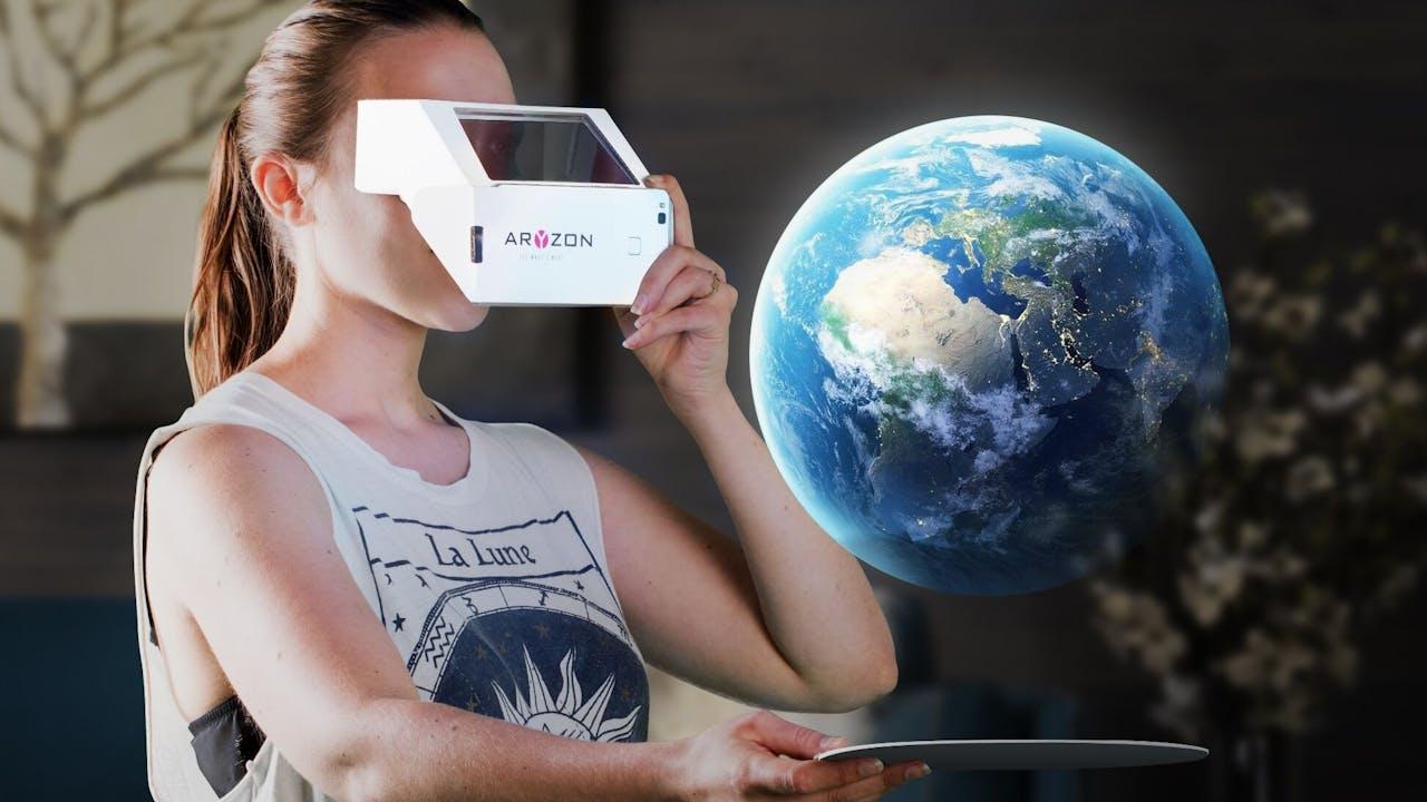 De aarde, een van de modellen die je kunt bekijken met Aryzon.