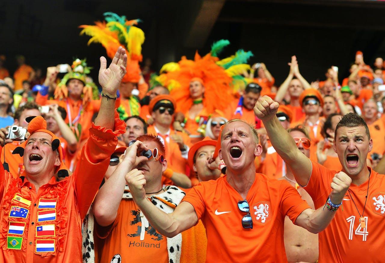 Fans juichen op het WK voetbal