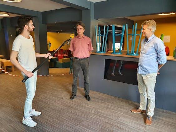 Verslaggever Connor Clerx op bezoek bij het Noorderpoort College