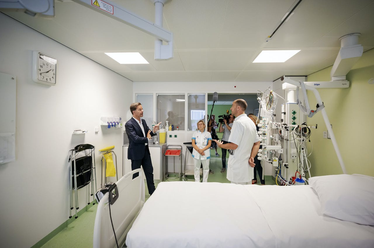Mark Rutte op de intensive care