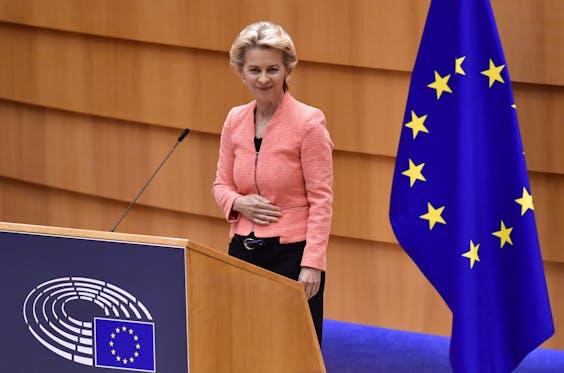 Ursula von der Leyen na afloop van haar State of the Union