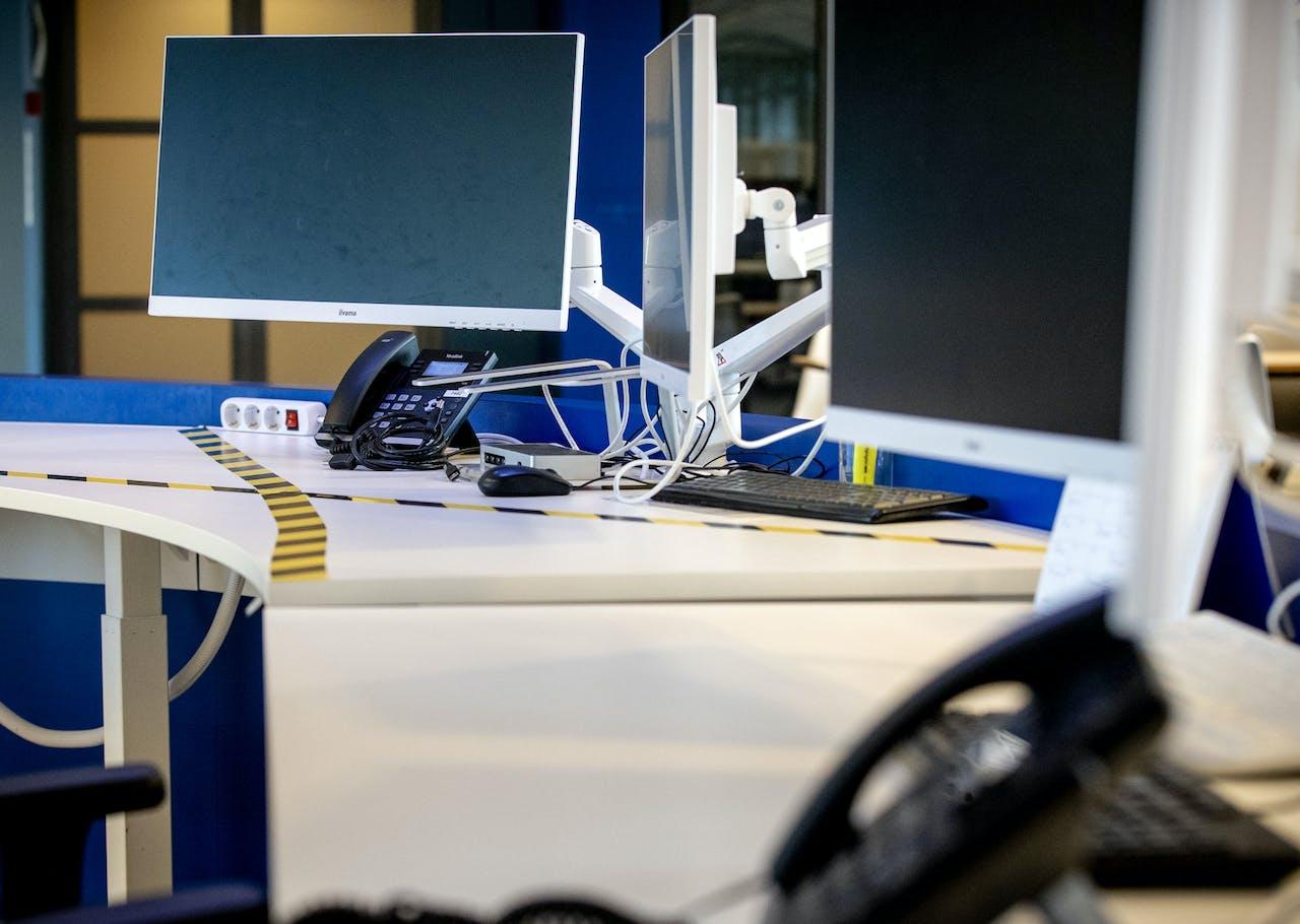 Tape geeft aan dat een werkplek niet meer gebruikt mag worden in het kader van de invoer van een 1,5 metereconomie.