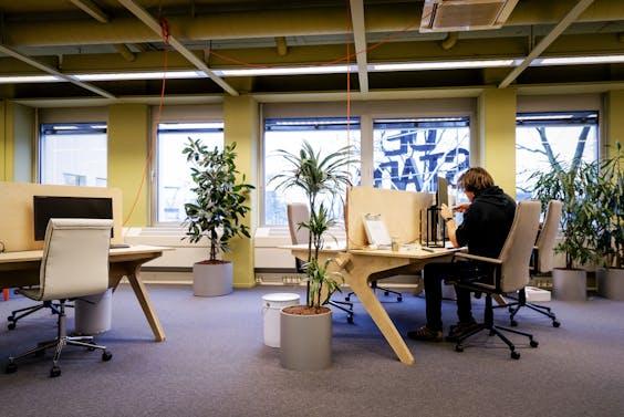 De Stadstuin in Utrecht, zzp'ers aan het werk.
