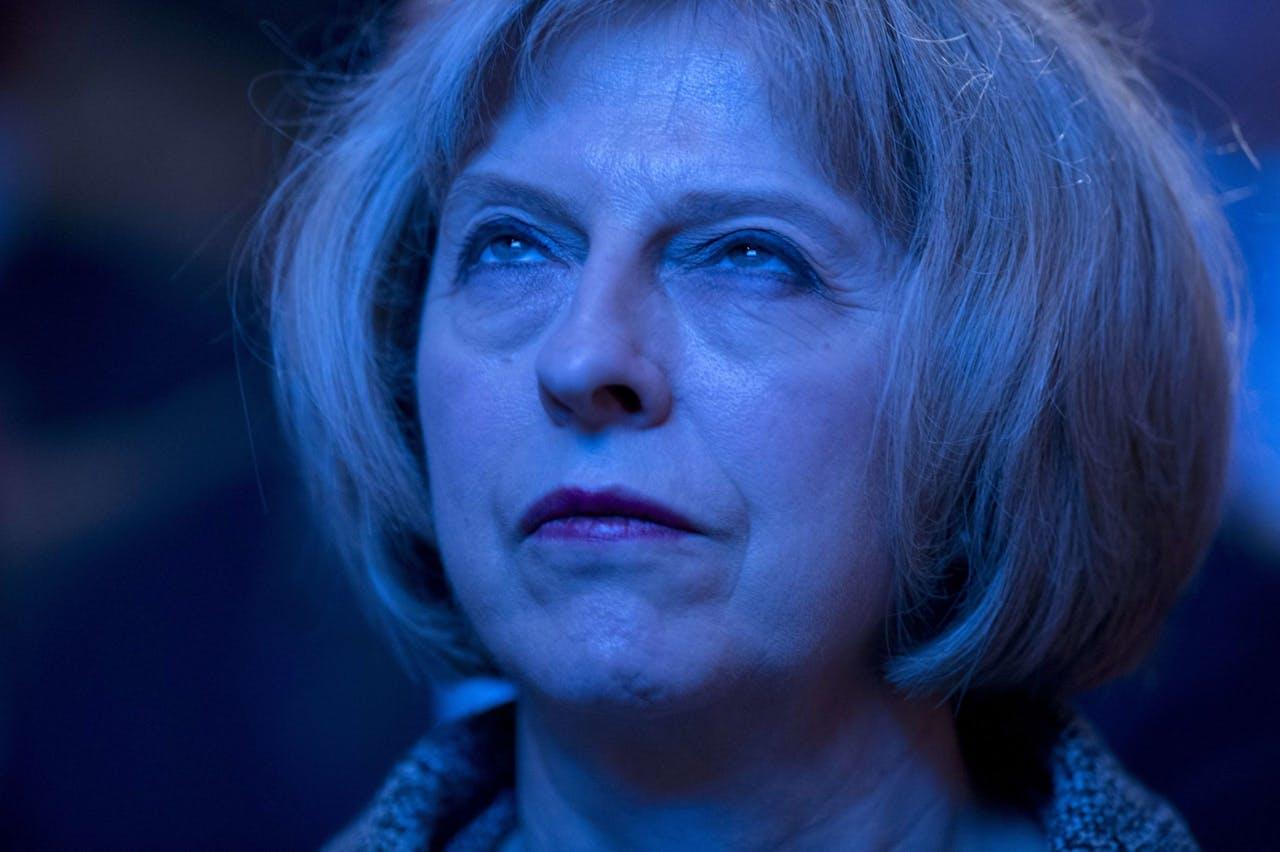 Theresa May in 2014, toen ze nog weinig met de Brexit te schaften had