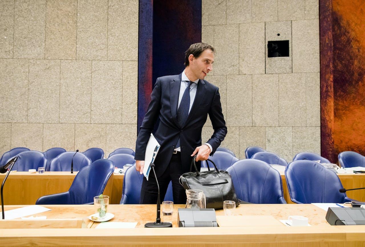 2018-09-19 18:24:25 DEN HAAG - Minister Wopke Hoekstra van Financiën. ANP BART MAAT