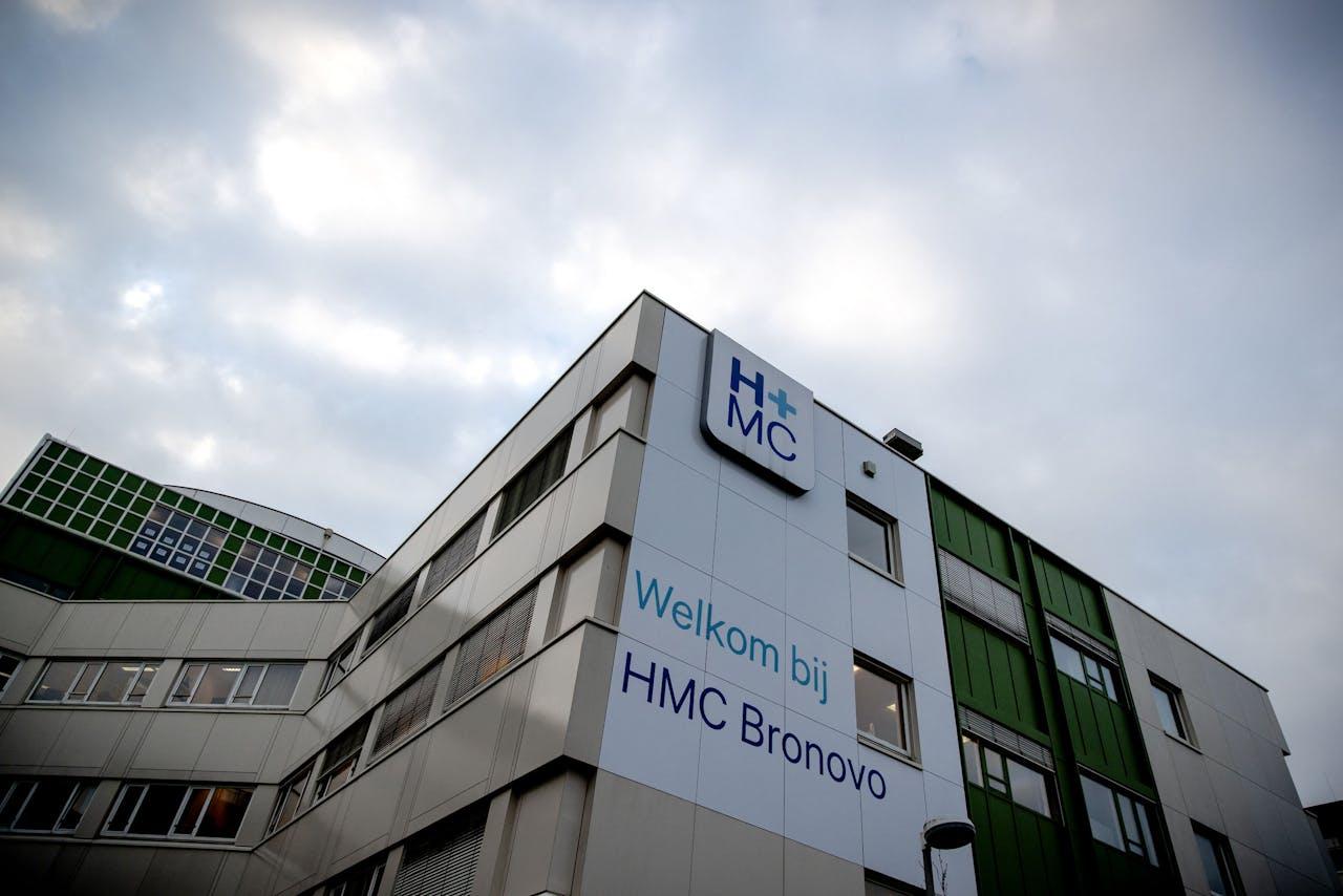 Exterieur van het Bronovo-ziekenhuis in Den Haag