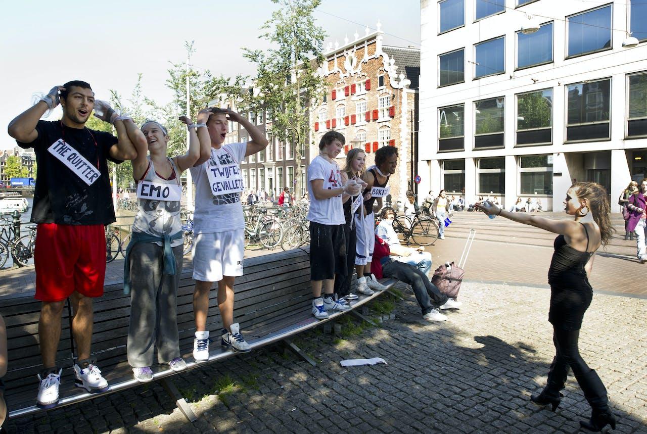 Ontgroening in Amsterdam.