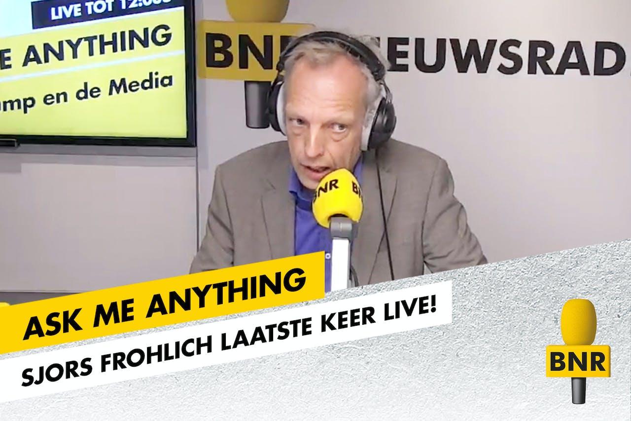 Sjors Frohlich presenteerde voor één keer Ask Me Anything, bij wijze van afscheid van BNR, en van de Nederlandse radio.
