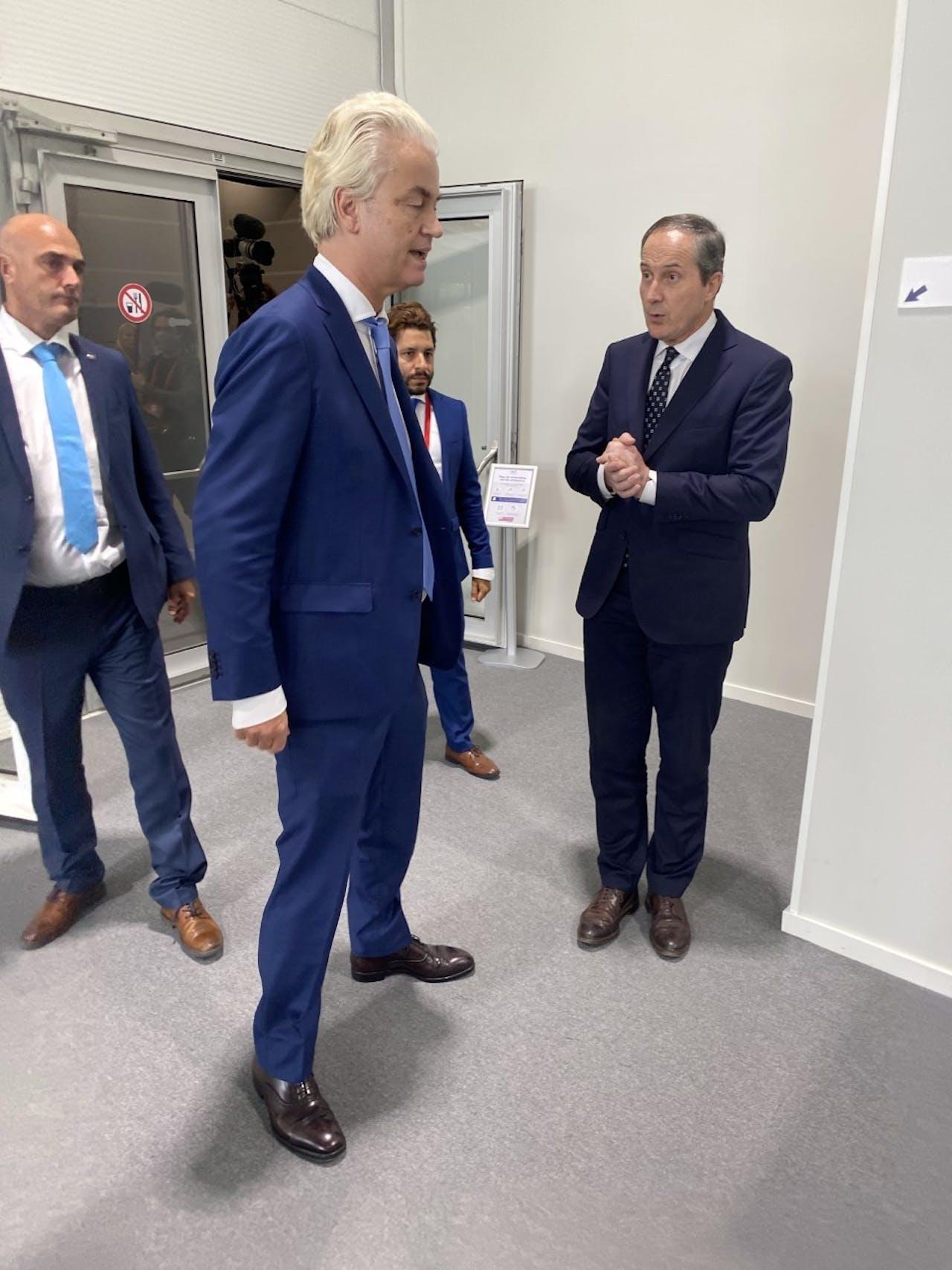Geert Wilders en zijn advocaat Geert-Jan Knoops