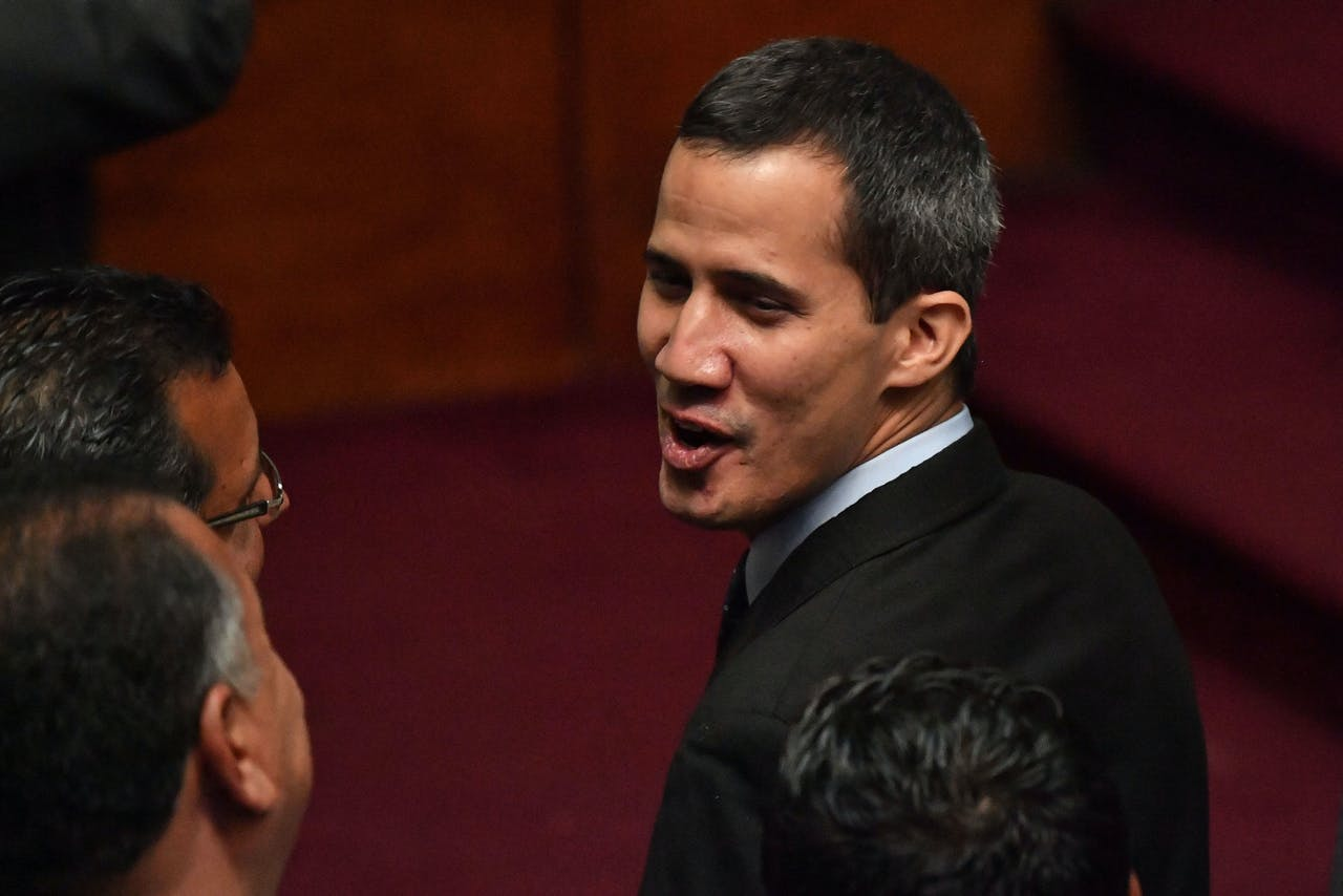 Zelfverklaard interim-president Juan Guaidó